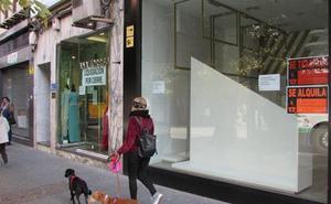 Más de un tercio de los locales comerciales del centro de la capital están cerrados o en liquidación