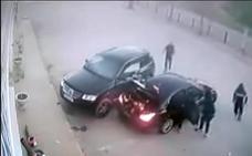 Un héroe se enfrenta en Málaga a tres ladrones a los que se encontró robando