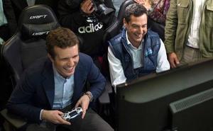 Moreno y Casado arrancan campaña pidiendo «rebeldía» a los jóvenes para acabar con 40 años «en blanco»