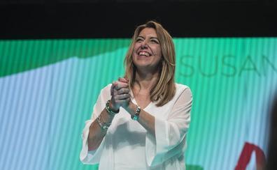 Susana Díaz reclama una mayoría amplia para deberse «sólo a los andaluces»