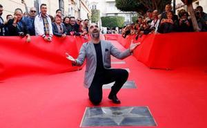 Luis Tosar cumple «un sueño» y descubre su estrella en la tierra de sus admirados 'espagueti western'