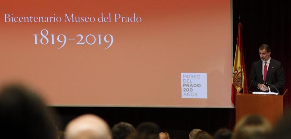 «El Prado es el gran símbolo de la creatividad de nuestro país», asegura Felipe VI