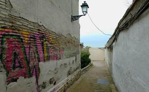 Las cámaras del Albaicín graban 29 infracciones entre pintadas, micciones y botellones