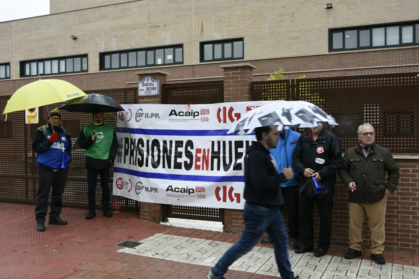 Protesta de los funcionarios de prisiones en Granada