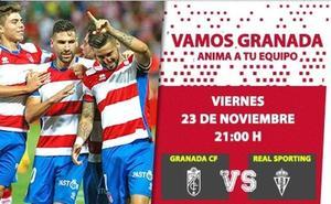 Últimas 24 horas para comprar tus entradas para el Granada - Sporting con un gran descuento