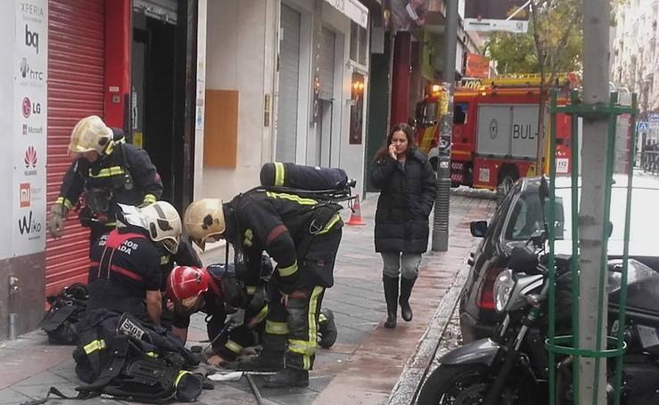 Escape de gas en Pedro Antonio de Alarcón