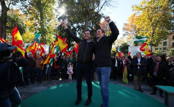 Casado arropa a Moreno en Granada a una semana de las elecciones