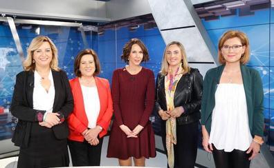 Las candidatas por Granada se 'dan la mano' en un debate centrado en el desempleo