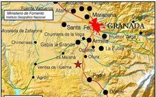 Un terremoto de 2,8 grados hace temblar Granada capital y parte de la provincia
