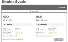 Un vuelo de Vueling parte de Granada con más de 12 horas de retraso por las rachas de viento en el Aeropuerto de Barcelona