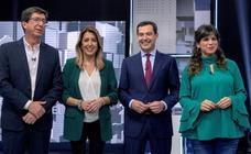 El último debate en Andalucía aleja a los candidatos de cualquier acuerdo
