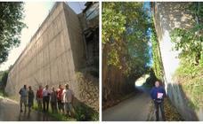 El muro de las inclinaciones de Órgiva