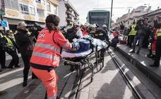 Así reaccionarían los servicios de emergencias si el metro de Granada atropellase a un peatón
