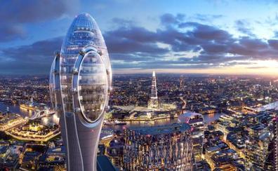 El polémico rascacielos que divide a Londres, un 'Tulipán' de luz verde