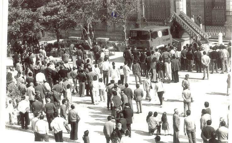 Homenaje a cien años de Bomberos en Jaén en fotografías