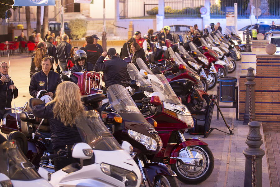 Concentración de motos Goldwing en Motril