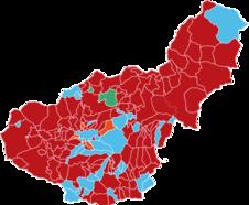 Los socialistas pierden tres de cada cuatro de sus 'feudos' en Granada