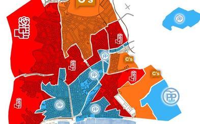 El PP aguanta el centro pero cae en votos
