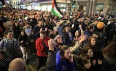 24 horas de los manifestantes contra el fascismo en Plaza del Carmen, en imágenes