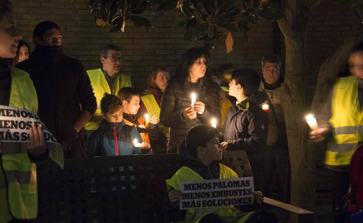 Vecinos de Vegas del Genil se manifiestan por los cortes de luz