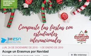 Vuelve a Jaén la iniciativa 'Acoge un Erasmus por Navidad'