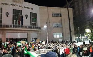«Franco no está muerto, está en el Parlamento», gritan en Jaén contra Vox