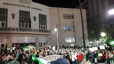 Protesta en Jaén contra la entrada de la ultraderecha en el Parlamento de Andalucía