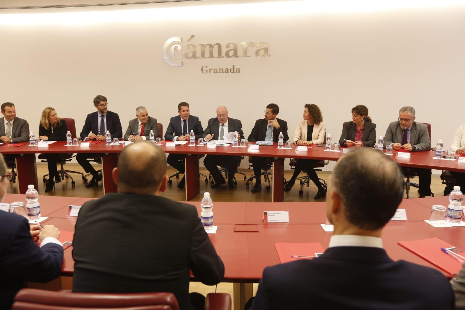 Foro de trabajo 'Directores Financieros Marco Emprendimiento', en la Cámara de Comercio de Granada
