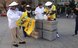 Apicultores se concentran en defensa de la miel española