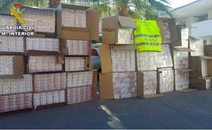 Investigados en Jaén tras la incautación de cajetillas de tabaco para contrabando