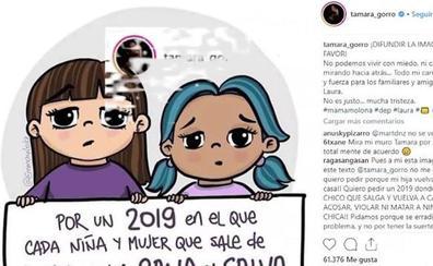 Famosos se vuelcan en las redes tras la muerte de Laura Luelmo