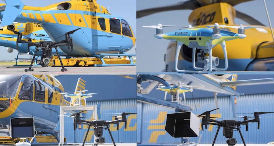 La DGT saca todos sus drones a las carreteras durante las Navidades