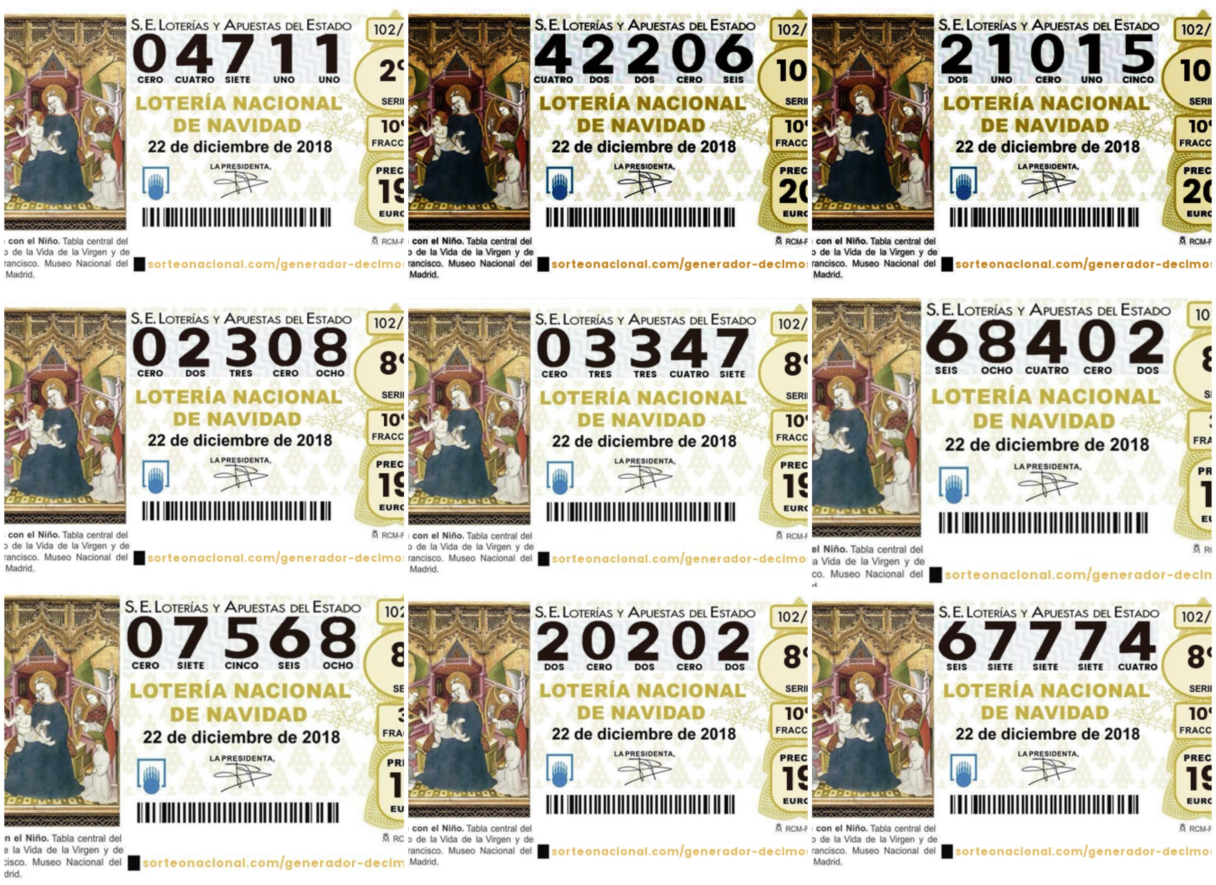 Todos los décimos premiados de la Lotería de Navidad: números y vídeos del sorteo