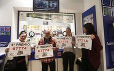 El cuarto premio 67774 deja 40.000 euros en Granada capital