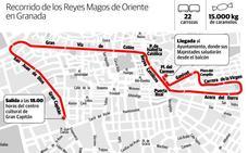 Itinerario y horario de la cabalgata de los Reyes Magos de Granada