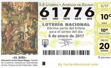 El Segundo Premio del sorteo de la Lotería del Niño es el 61776 y ha caído en Granada, Mojácar, Salamanca, Sevilla, Málaga...