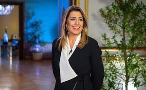 Susana Díaz: «Los socialistas somos la garantía de la igualdad, la justicia social y la defensa de la bandera blanca y verde»