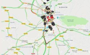 Una colisión en la Chana y otra en Méndez Núñez dejan un herido y cinco kilómetros de atasco en la Circunvalación