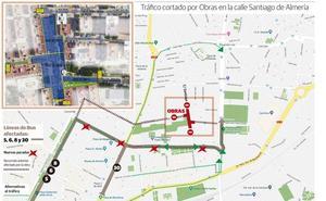 El 'cierre' de calle Santiago obliga a un plan de desvíos durante al menos seis meses
