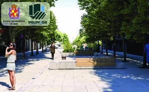 Así quedará la calle Roldán y Marín de Jaén tras su peatonalización