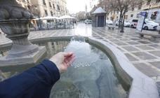 Cero grados y fuentes congeladas en Granada