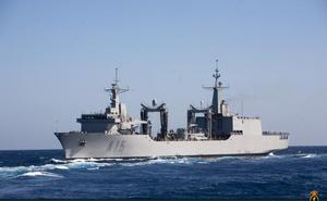 El Buque de Aprovisionamiento en Combate 'Cantabria' navega más de 12.000 millas en su despliegue con la OTAN