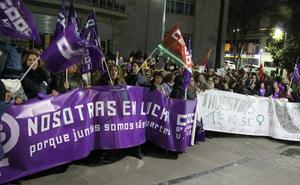 Manifestación feminista para pedir que no se dé «ni un paso atrás» en igualdad