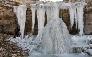 La impresionante cascada helada de Jaén