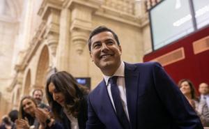 Moreno cree que PSOE y Adelante competirán por ser el «más radical» y asegura que su gobierno protegerá a las mujeres