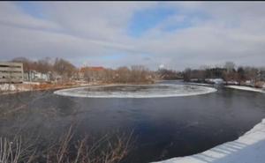 El misterioso bloque de hielo tiene intrigado a todo Estados Unidos