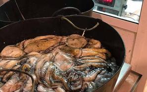 Intervienen unos 45 kg. de pulpo inmaduro en el Puerto de Almería
