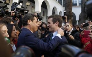Casado, convencido de que la investidura de Moreno es «el primer paso» para «recuperar el Gobierno de España»