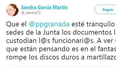 Sandra García niega que se estén destruyendo documentos oficiales en las sedes de la Junta de Granada