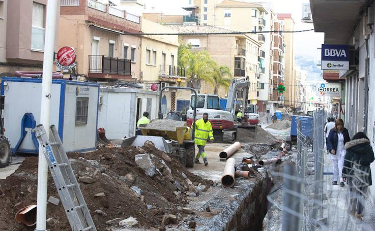 Las obras de la calle Ancha de Motril, en imágenes